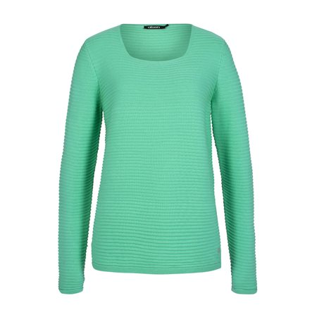 Olsen Ribbed Jumper Green  - Click to view a larger image