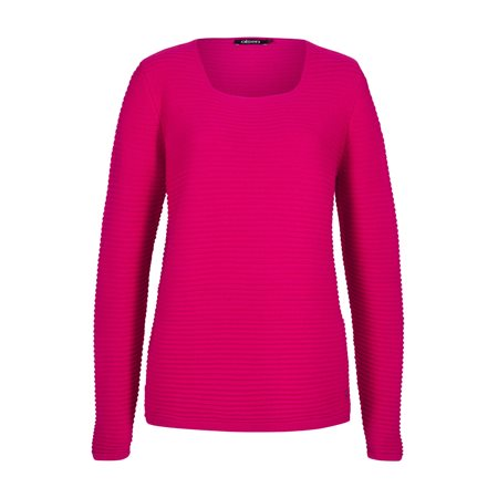 Olsen Ribbed Jumper Pink  - Click to view a larger image