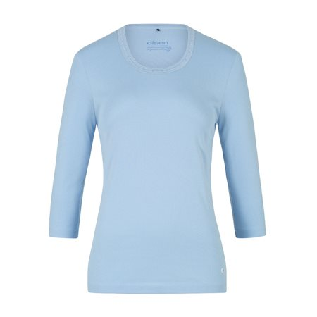 Olsen Jewelled Cotton Top Blue  - Click to view a larger image
