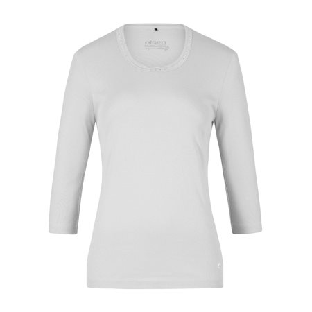 Olsen Jewelled Cotton Top White  - Click to view a larger image