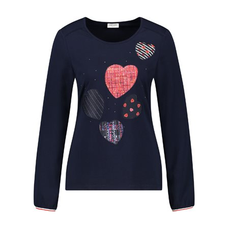 Gerry Weber Loveheart Top Navy  - Click to view a larger image