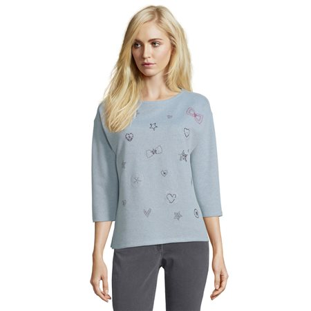 Betty Barclay Detailed Sweater Blue  - Click to view a larger image