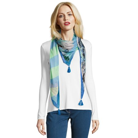 Betty Barclay Heart Sequin Scarf Grey  - Click to view a larger image