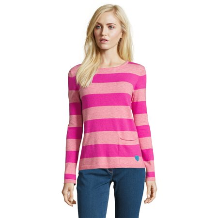 Betty Barclay Striped Knit Jumper Pink  - Click to view a larger image