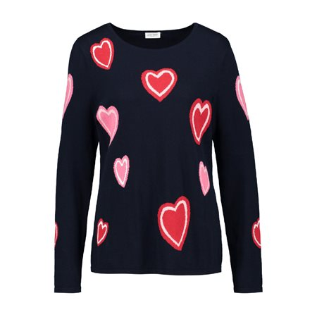Gerry Weber Scattered Heart Jumper Navy  - Click to view a larger image