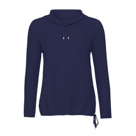 Monari High Collar Jumper Blue  - Click to view a larger image