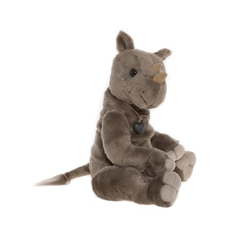 Charlie Bears Vinnie Plush Collection Grey  - Click to view a larger image