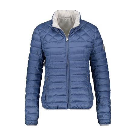 Taifun Reversible Quilted Coat Blue  - Click to view a larger image