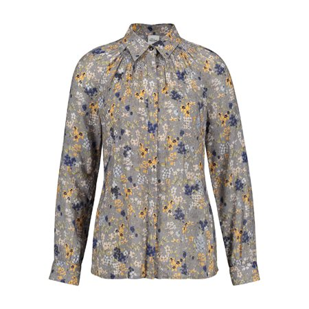 Taifun Boho Floral Print Blouse Silver  - Click to view a larger image
