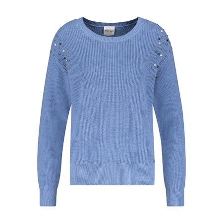 Taifun Pearl Detailed Jumper Blue  - Click to view a larger image