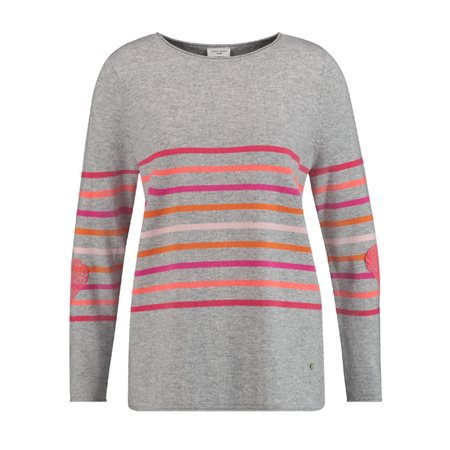 Gerry Weber Soft Striped Jumper Red  - Click to view a larger image