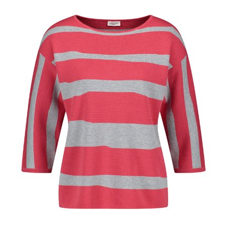Gerry Weber Abstract Stripe Jumper Pink  - Click to view a larger image