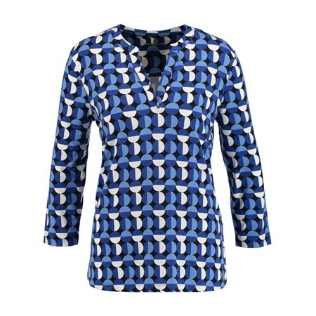 Gerry Weber Abstract Circle Top Blue  - Click to view a larger image