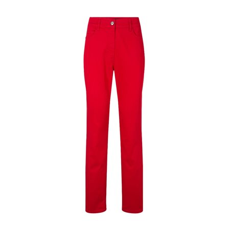 Olsen Slim Fit Cotton Jeans Red  - Click to view a larger image