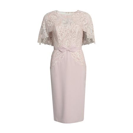 Rosa Clara Lace Dress With Lace Overlay Pink  - Click to view a larger image