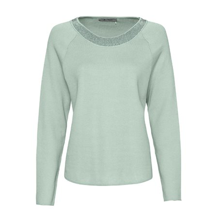 Monari Jewelled Jumper Mint  - Click to view a larger image