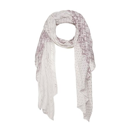 Monari Feather Print Scarf Lilac  - Click to view a larger image
