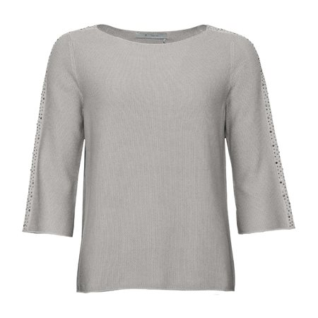 Monari Knitted Stud Jumper Grey  - Click to view a larger image