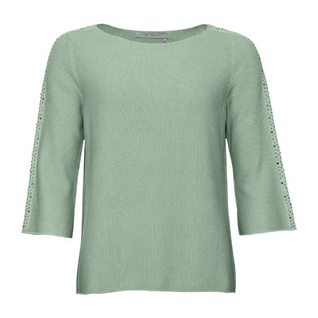 Monari Knitted Stud Jumper Mint  - Click to view a larger image