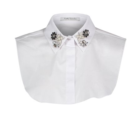 Betty Barclay Embellished Collar Insert White  - Click to view a larger image