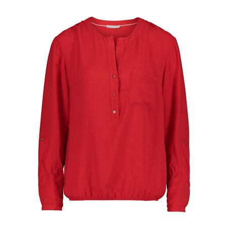 Betty & Co Elasticated Blouse Red  - Click to view a larger image