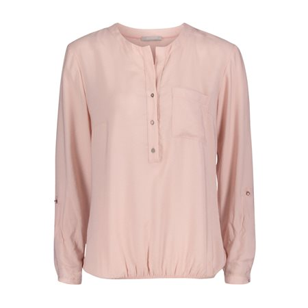 Betty & Co Elasticated Blouse Pink  - Click to view a larger image