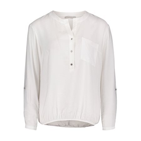 Betty & Co Elasticated Blouse White  - Click to view a larger image