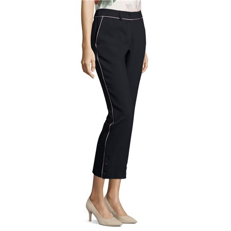 Betty & Co Pleated Business Trousers Dark Blue  - Click to view a larger image