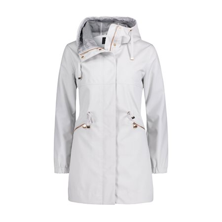 Betty Barclay Crossover Parka Coat Grey  - Click to view a larger image