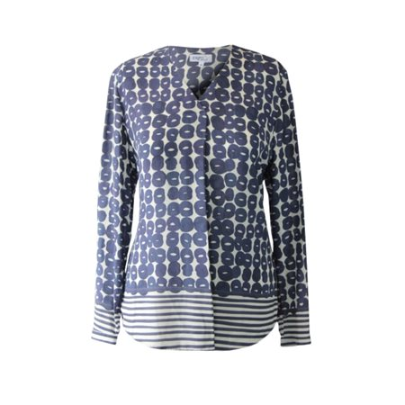 Erfo Circle Print Blouse Blue  - Click to view a larger image