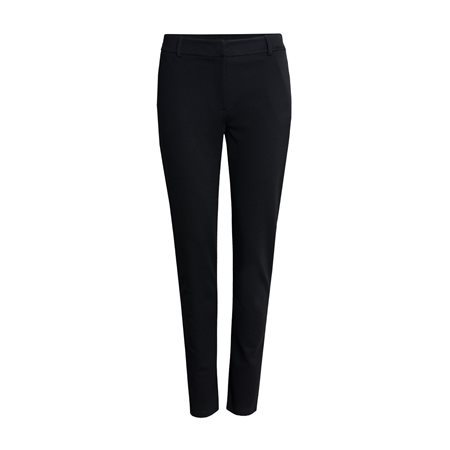Taifun Stripe Detail Trousers Black  - Click to view a larger image