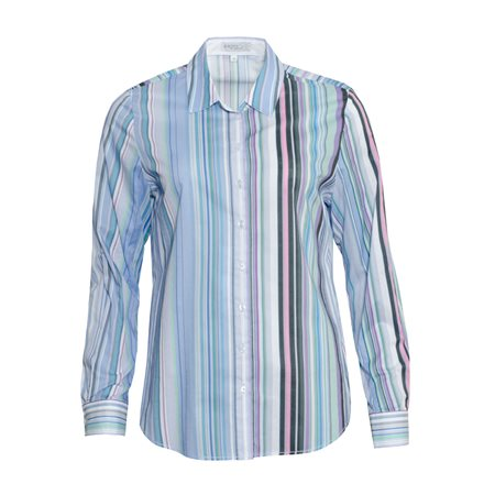 Erfo Colourful Striped Shirt Blue  - Click to view a larger image