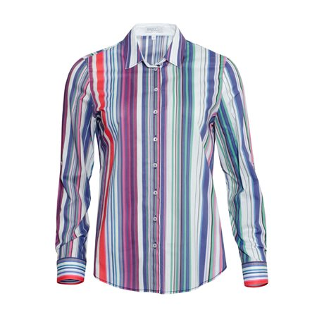 Erfo Colourful Striped Shirt Red  - Click to view a larger image