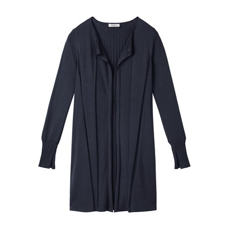 Sandwich Open Fine Knit Cardigan Navy  - Click to view a larger image