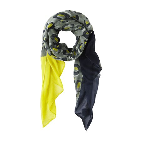 Sandwich Woven Printed Scarf Green  - Click to view a larger image