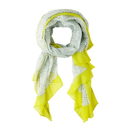 Sandwich Woven Spotted Scarf Green  - Click to view a larger image