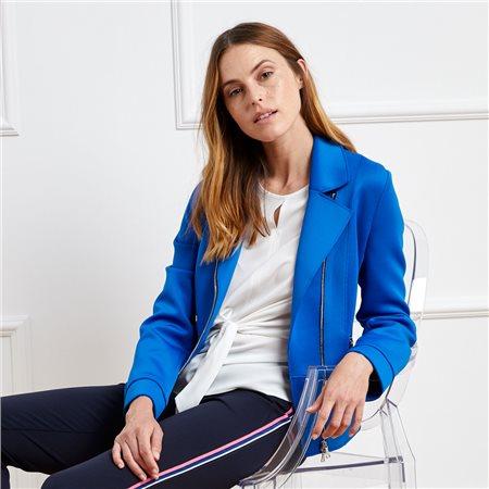 Gerry Weber Biker Jacket Blue  - Click to view a larger image