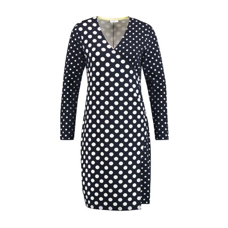 Gerry Weber Dot Print Wrap Effect Dress Blue  - Click to view a larger image
