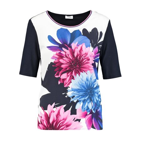 Gerry Weber Floral Patterned Top Blue  - Click to view a larger image