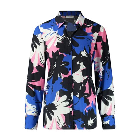 Gerry Weber Floral Print Shirt Blouse Blue  - Click to view a larger image