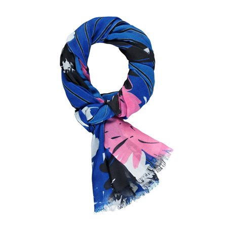 Gerry Weber Mixed Pattern Scarf Blue  - Click to view a larger image