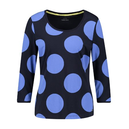 Gerry Weber Organic Dot Patterned Top Blue  - Click to view a larger image