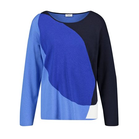Gerry Weber Silk Jumper Blue  - Click to view a larger image