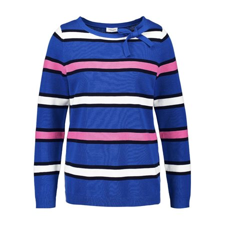 Gerry Weber Sporty Striped Jumper Blue  - Click to view a larger image