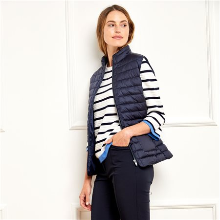Gerry Weber Teflon Eco Elite Reversible Gilet Navy  - Click to view a larger image