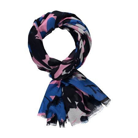 Gerry Weber Floral Print Scarf Blue  - Click to view a larger image
