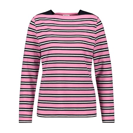 Gerry Weber Striped Long Sleeved Top Pink  - Click to view a larger image