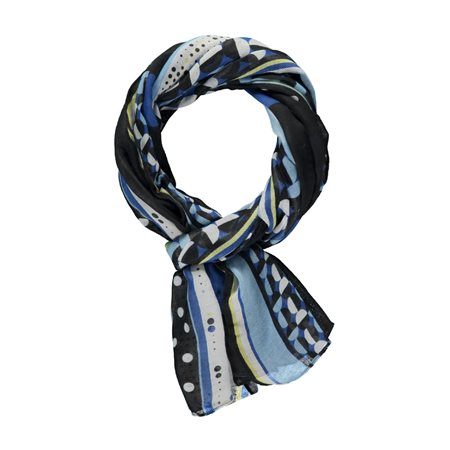 Gerry Weber Geo Print Scarf Blue  - Click to view a larger image