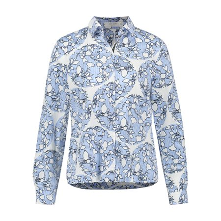 Gerry Weber Abstract Floral Print Shirt White  - Click to view a larger image