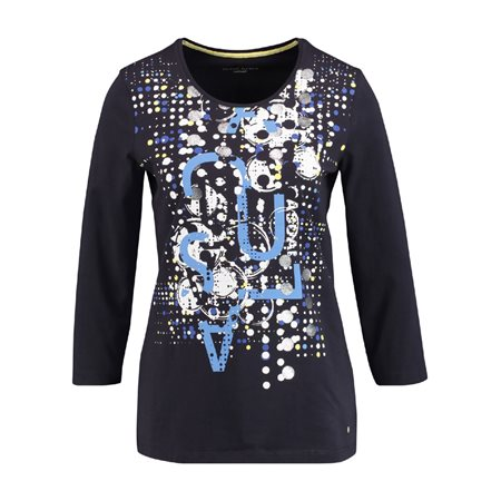 Gerry Weber Abstract Printed Top Navy  - Click to view a larger image
